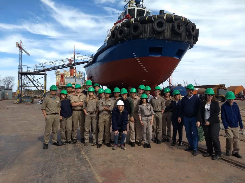 Estudiantes del Secundario Técnico Naval conocieron los astilleros más importantes del país